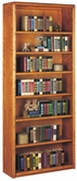 Martin Ob3684 Contemporary Bookcase With 7 Shelves, 5 Adjustable And 2 Fixed