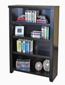 "Martin Furniture TL3248 Tribeca Loft Black 48"" Bookcase with 3 adj. shelves"
