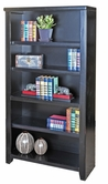 "Martin Furniture TL3260 Tribeca Loft Black 60"" Bookcase with 3 adj. shelves & 1 fixed shelf"