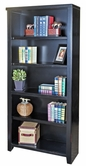 "Martin Furniture TL3270 Tribeca Loft Black 70"" Bookcase with 3 adj. shelves & 1 fixed shelf"