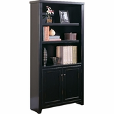 Martin Furniture TL3670D Tribeca Loft Black Bookcase with lower doors