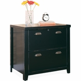 Martin Furniture TL450 Tribeca Loft Black 2-Drawer lateral file