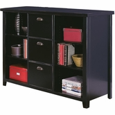 Martin Furniture TL504 Tribeca Loft Black Three drawer file/bookcase