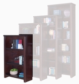 "Martin Furniture TLC3248 Tribeca Loft Cherry 48"" Bookcase with 3 adj. shelves & 1 fixed shelf"