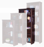 "Martin Furniture TLC3270 Tribeca Loft Cherry 70"" Bookcase with 3 adj. shelves & 1 fixed shelf"