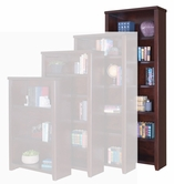 "Martin Tlc3284 Tribeca Loft Cherry 84"" Bookcase With 4 Adj. Shelves & 1 Fixed Shelf"