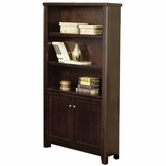 Martin Furniture TLC3670D Tribeca Loft Cherry Lower door bookcase