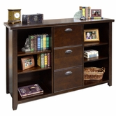 Martin Furniture TLC504 Tribeca Loft Cherry Three Drawer File/Bookcase