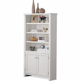 Martin Furniture TW3670D Tribeca Loft White Bookcase with lower doors