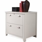 Martin Furniture TW450 Tribeca Loft White 2-Drawer lateral file