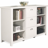 Martin Furniture TW504 Tribeca Loft White Three drawer file/bookcase
