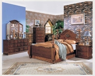 Ponderosa Walnut Finish Bedroom Set - Acme 1720Q-24-25