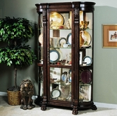 Pulaski 102003 Curved End Curio
