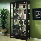 Pulaski 20661 Two Way Sldg Door Curio Chocolate Cherry