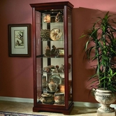 Pulaski 20717 Two Way Sldg Door Curio Victorian Cherry