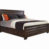 Pulaski 330170-71-72-73 Tangerine Queen Bed w/storage one side