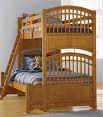 Pulaski 633157-58-87 Bearrific Loft Bed in Medium Brown