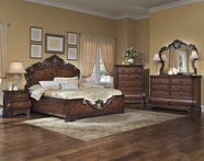 Pulaski 962170-71-72-00-10 Wellington Manor Dresser / Mirror / Queen Platform Bed