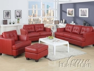 Acme 15100 Platinum Leather Sofa Set