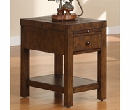 Riverside 1712 Belize-Chairside Table-Old World Distressed Pine