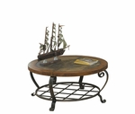 Riverside 28005 Harmony-Round Cocktail Table-Harmony Antique Oak