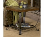 Riverside 28009 Harmony-End Table-Harmony Antique Oak