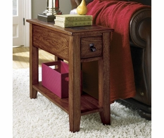 Riverside 28012 Harmony-Chairside End Table-Harmony Antique Oak