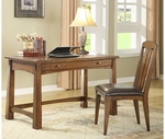 Riverside 2927 Craftsman Home-Writing Desk-Americana Oak