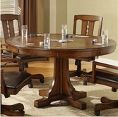 Riverside 2951 Craftsman Home Convert A Height Round Dining Table