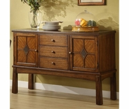 Riverside 2958 Craftsman Home-Leg Server-Americana Oak