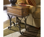 Riverside 31010 Stone Forge-Chairside Table-Tuscan Sun