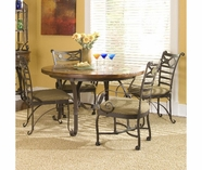 Riverside 31021 Stone Forge-Round Dining Table-Tuscan Sun