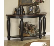 Riverside 41215 Delcastle-Demilune Sofa Table-Agd Black/Antq Irish Pine