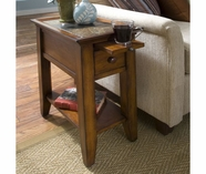 Riverside 5312C Andorra-Chairside Table-Eden Burnished Cherry
