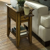 Riverside 5312K Andorra-Chairside Table-Burnished Oak