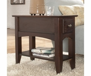 Riverside 66010 Metro II-Chairside End Table-Ebony Brown