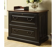 Riverside 7139 Bridgeport-Two Drawer Lateral File-Burnished Chry/Antq Black
