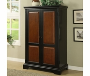 Riverside 7185 Bridgeport-Computer Armoire-Burnished Chry/Antq Black