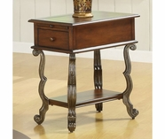 Riverside 82010 Ambrosia-Chairside Table-Terra-Sienna