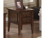 Riverside 92009 Hilborne-Two Drawer End Table-Burnished Cherry