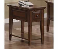 Riverside 92010 Hilborne-Chairside Table-Burnished Cherry