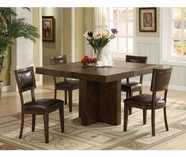 Riverside Belize-Square Dining Table Set-Old World Distressed Pine 1758-9-3-6-7