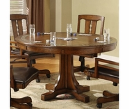 Riverside Craftsman Home Convert-A-Height Round Dining Set-Americana Oak 2951-2-6