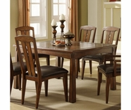 Riverside Craftsman Home Rectangular Dining Table Set-Americana Oak 2950-53