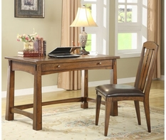 Riverside Craftsman Home Writing Desk & Chair-Americana Oak 2927-53