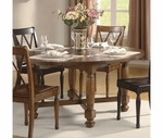 Riverside Delcastle Round/Square Convtert Height Table Set 41021-23X4