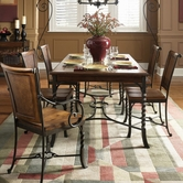Riverside Medley Rectangular Table Camden Dining Set 45021-27X4