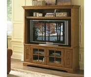 Riverside Visions III 64 Inch TV Console & Deck Medium Distressed Oak 34057-8