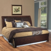 Samuel Lawrence 2445-254-259-400 NOVA QUEEN Bed with leather headboard and Rails