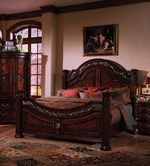 Samuel Lawrence 3530-250-251-400 SAN MARINO Complete Queen Bed w/Rails